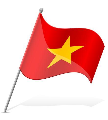 flag of Vietnam vector illustration.
