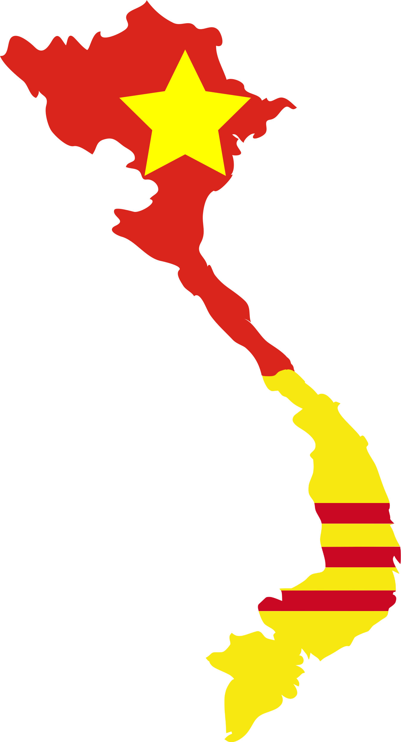Vietnam Flag South Clipart.