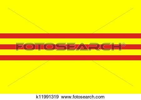 Stock Illustration of south vietnam flag k11991319.