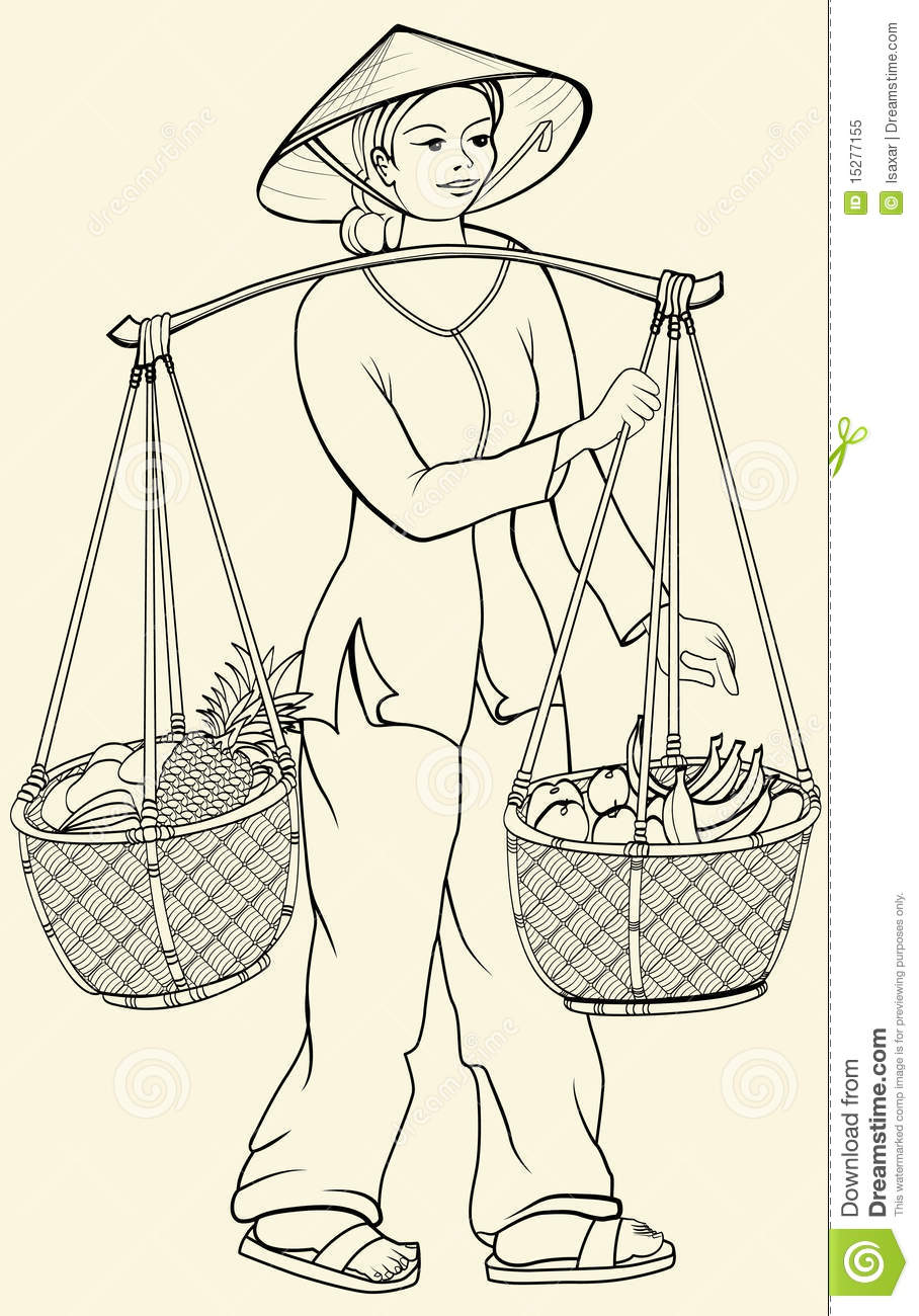 Vietnamese People Clipart.