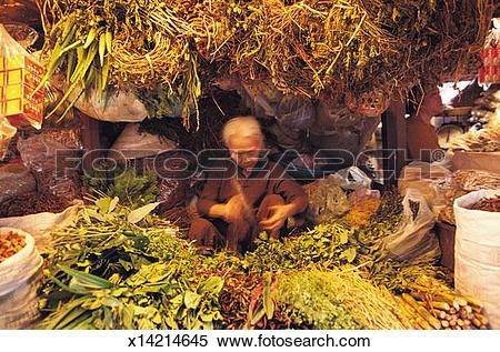 Stock Image of Market stall, Ho Chi Minh City, Vietnam x14214645.