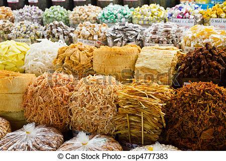 Stock Photos of Food at Asian Market in Ho Chi Minh City (Saigon.