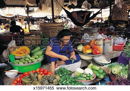 Stock Image of Market stall, Ho Chi Minh City, Vietnam x15971455.
