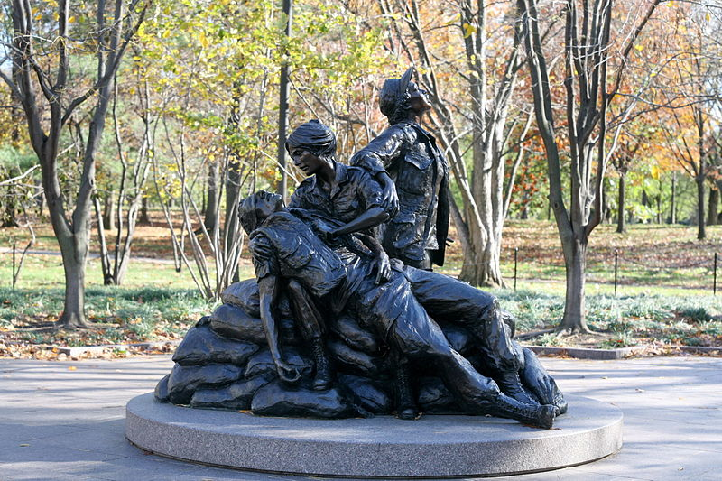Vietnam Memorial Women Statue Clip Art.