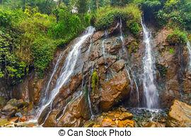 Stock Photos of Tien Sa Waterfall, Sapa village, Lao Cai Province.