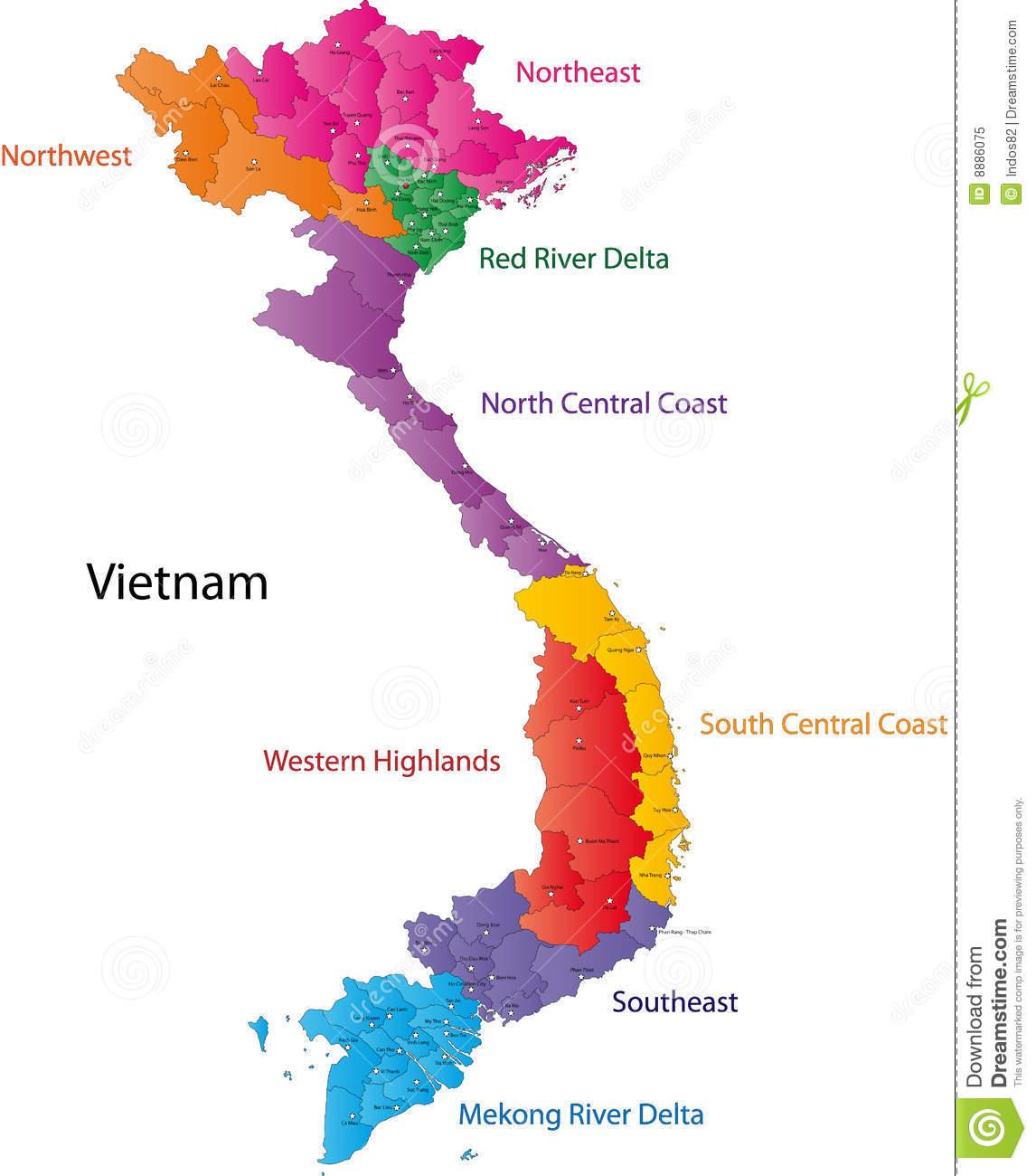Vietnam Map Clipart.