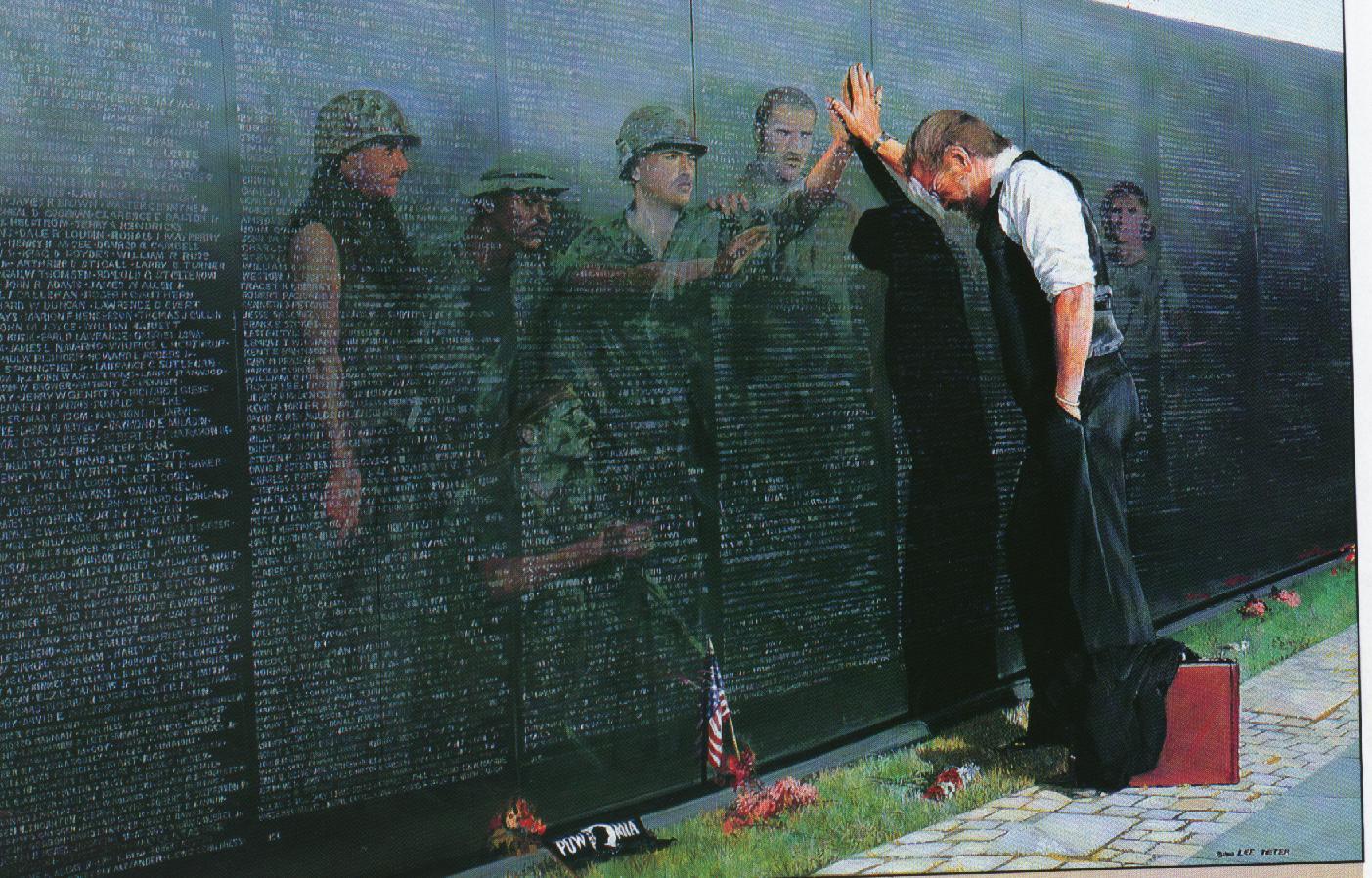 Vietnam Veterans Wall Clip Art.