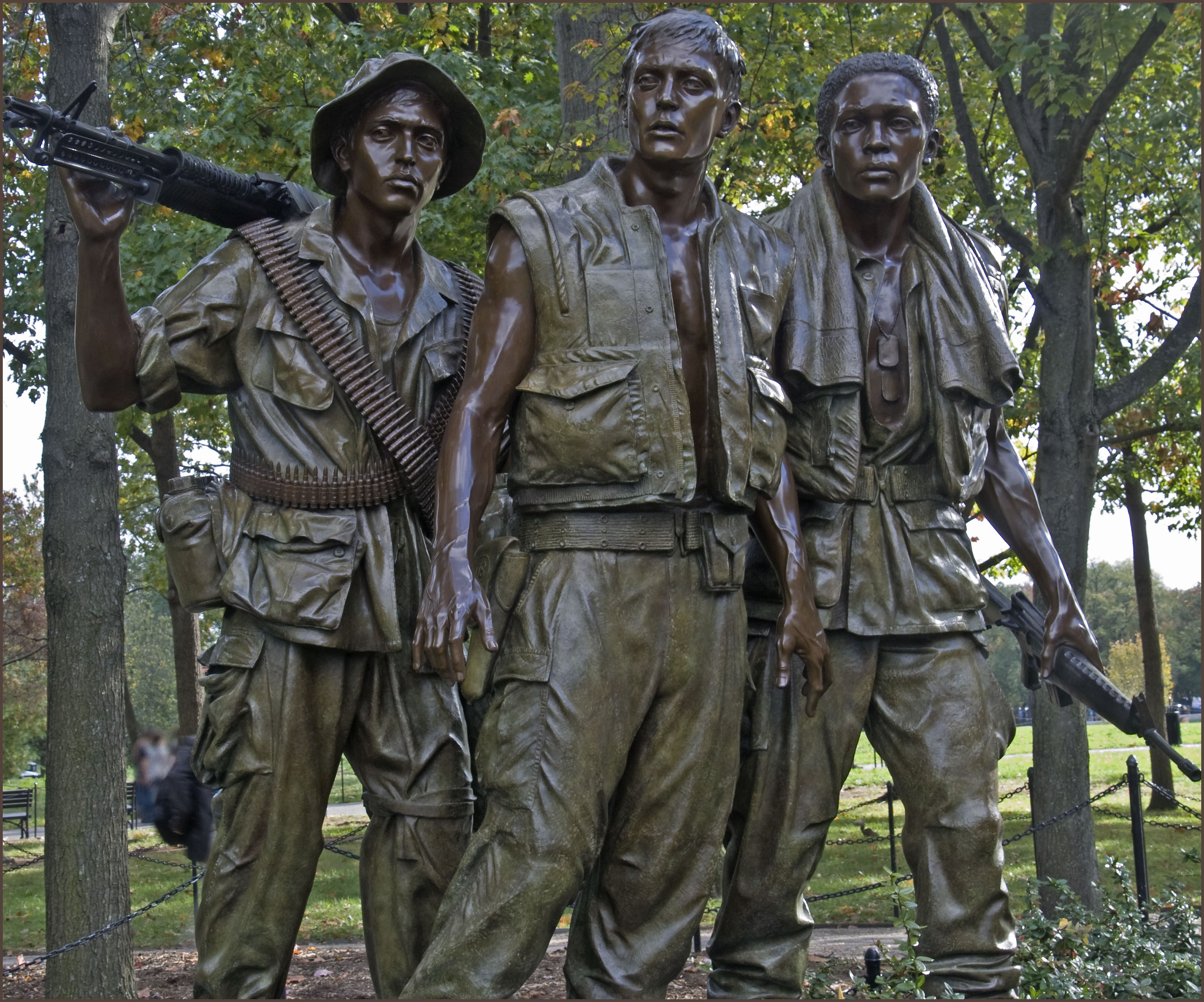 Vietnam War Memorial Statue Clip Art.