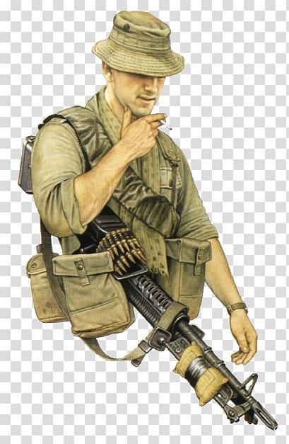 Vietnam War South Vietnam Soldier Australian and New Zealand.