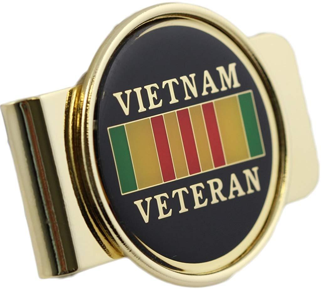 Vietnam Veteran Logo Money Clip Military Money Clip.