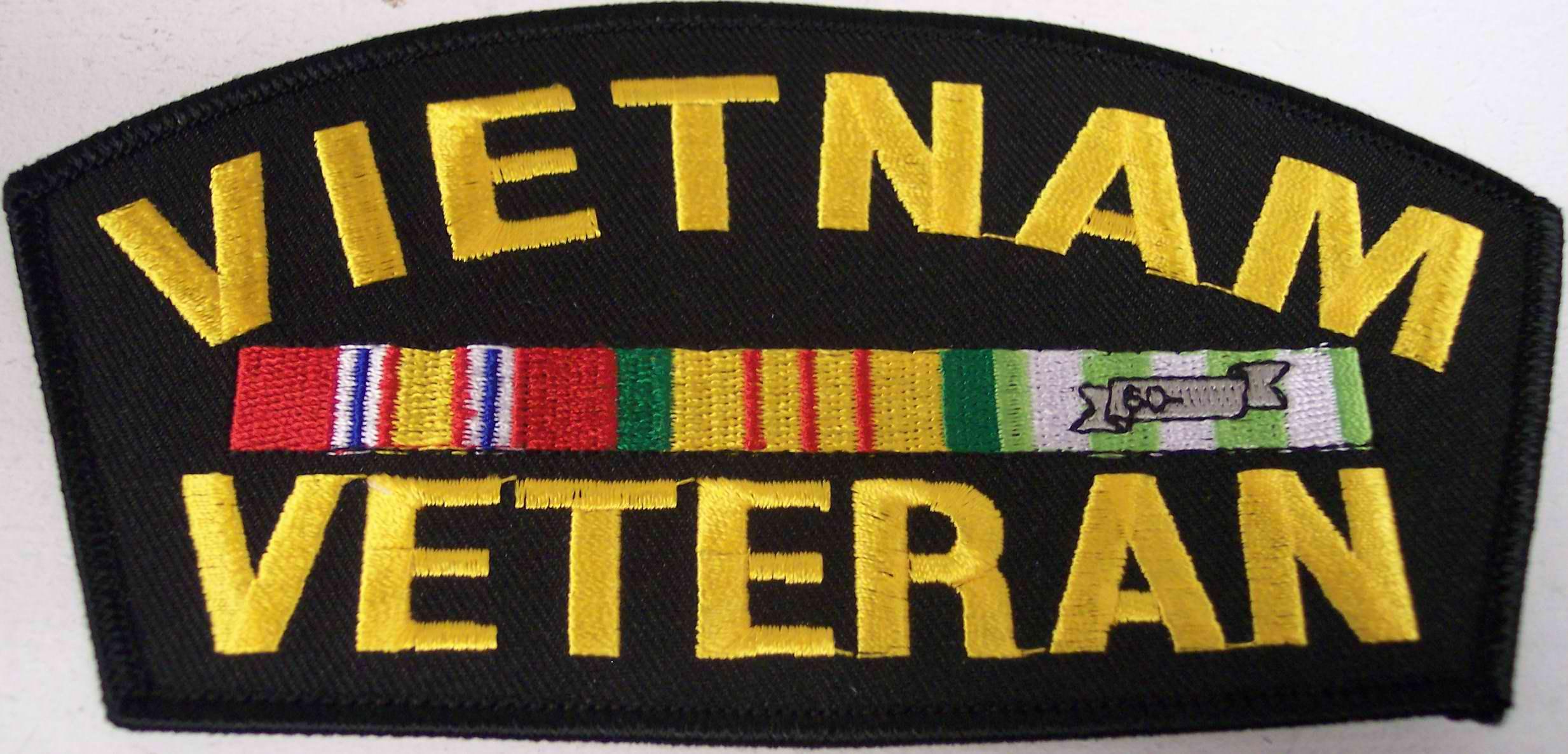 Vietnam Veteran Ribbon Patch.
