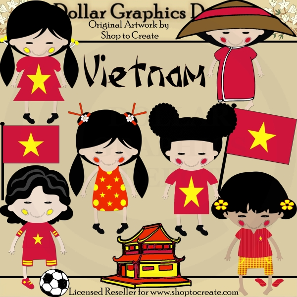 Vietnamese new year food clipart.