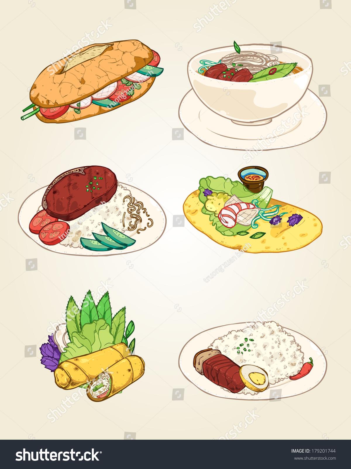 Vietnamese Food Clipart.