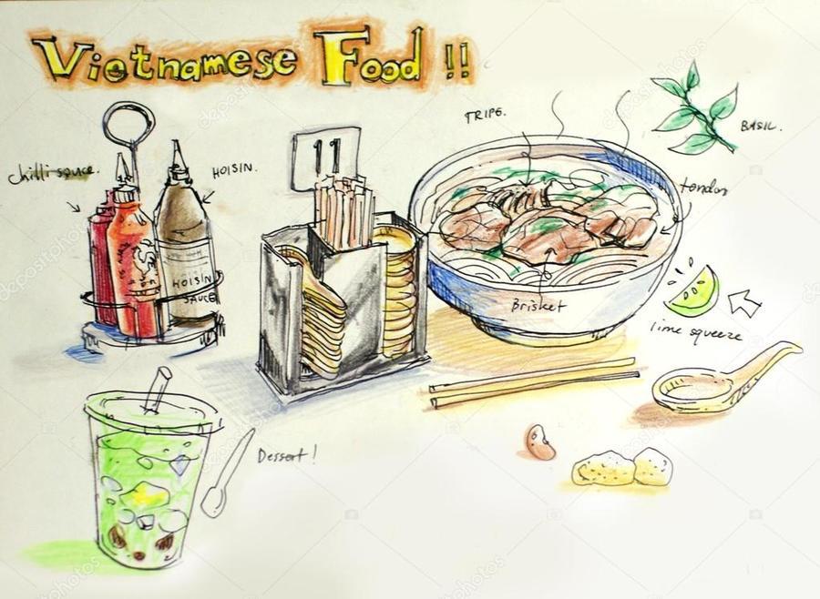 Download vietnamese food illustration clipart Vietnamese.