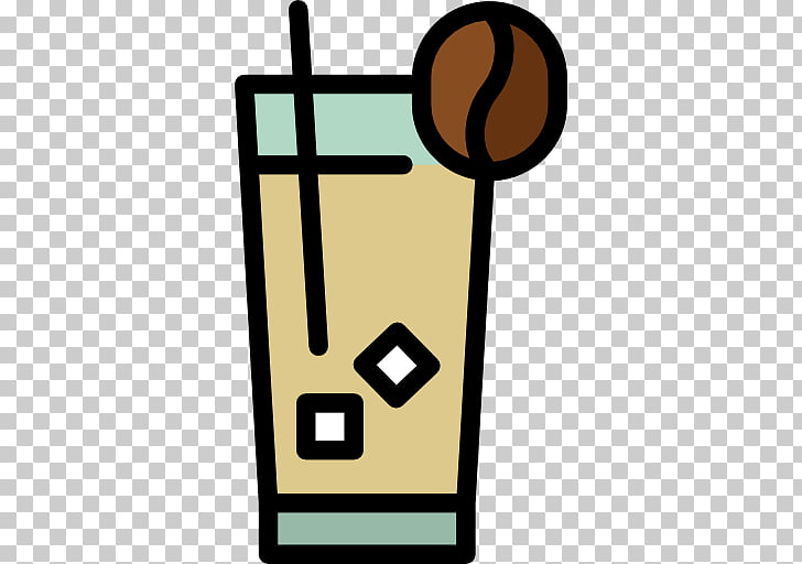 Vietnamese iced coffee Cafe Ice cube, refreshing drink PNG.