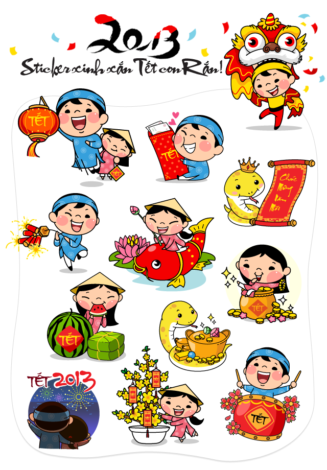 Tết Holiday Clipart.