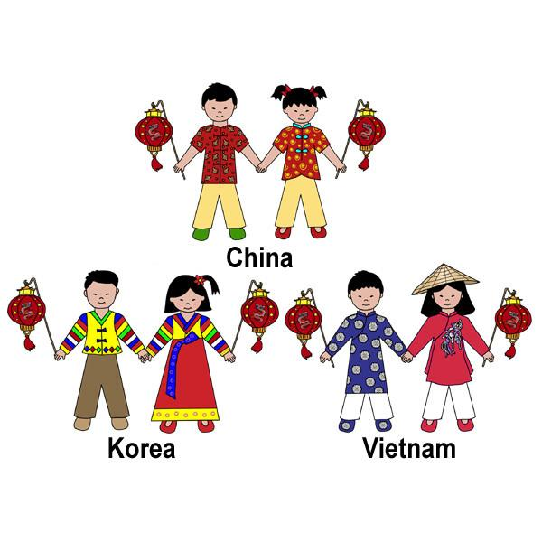 Chinese New Year Party Invitation (Vietnamese & Korean Also.