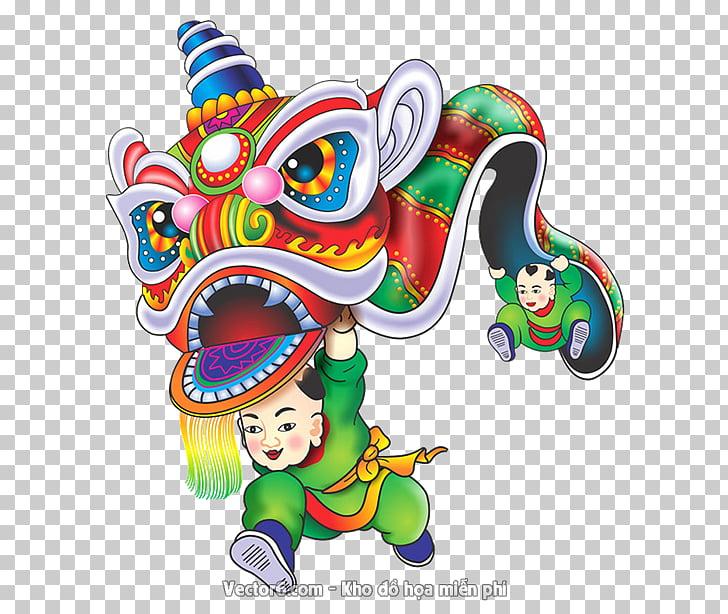 Lunar New Year Vietnam Lion dance, mua PNG clipart.