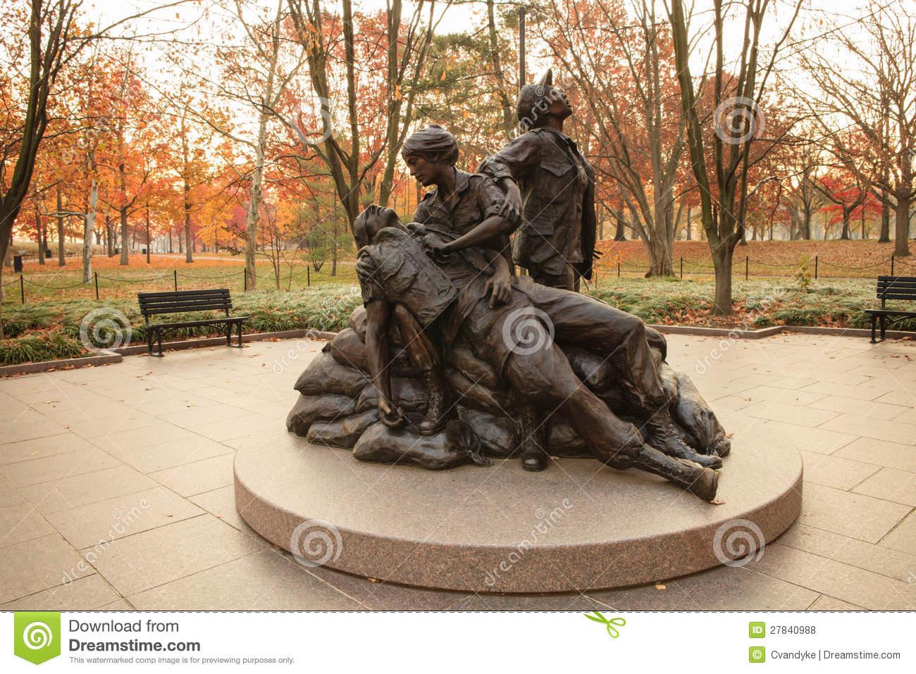 Vietnam Women's Memorial Statue Royalty Free Stock Photos.