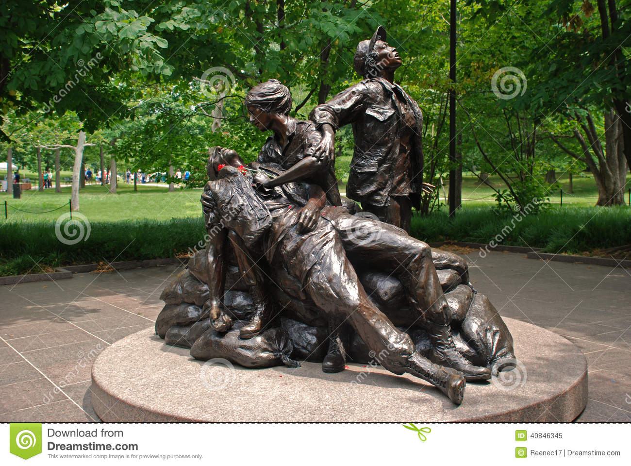 Vietnam Womens Memorial Editorial Stock Photo.