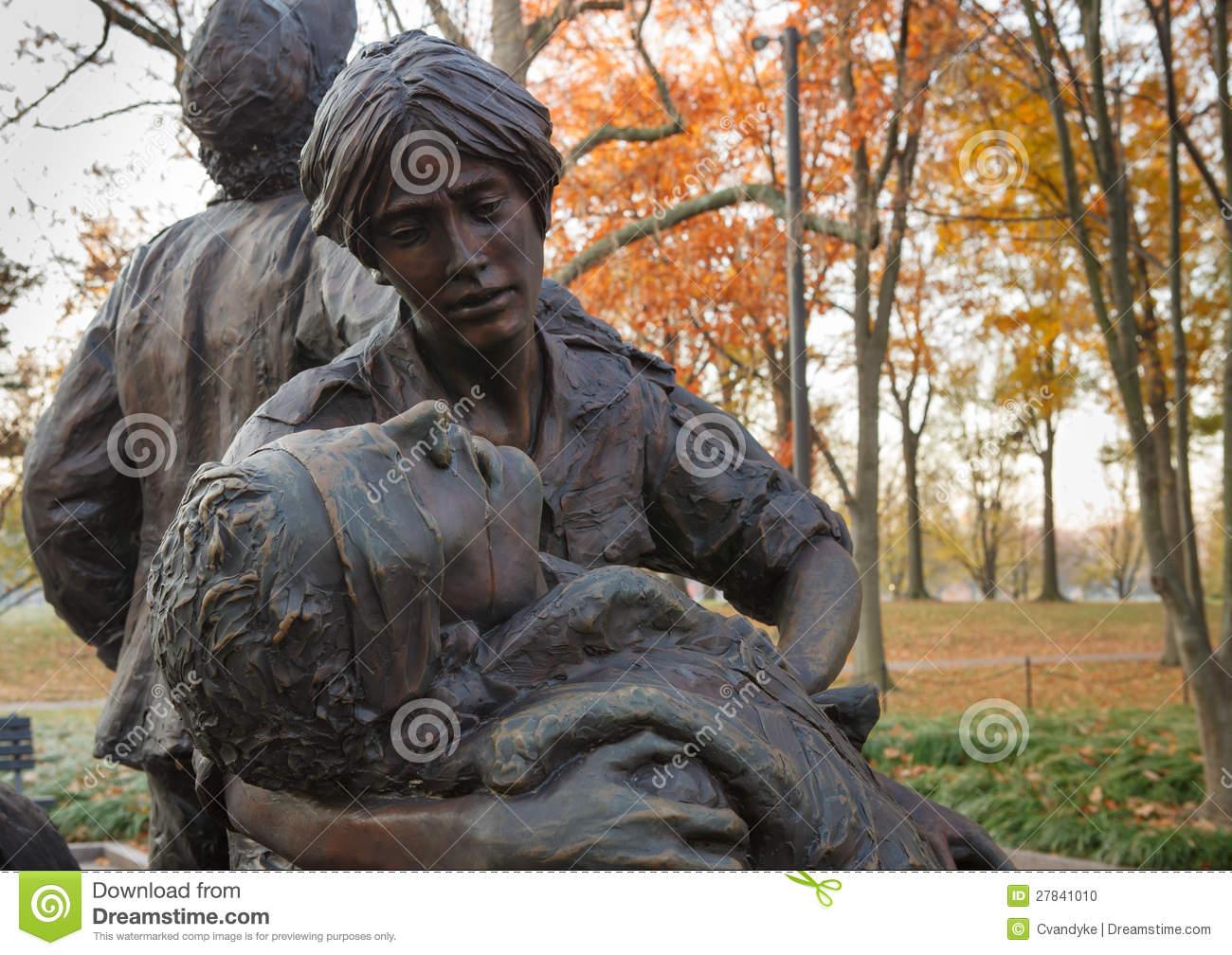 Vietnam Memorial Women Statue Clip Art.