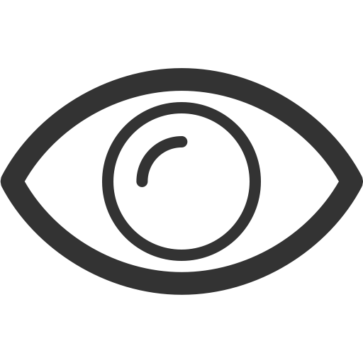 Eye, see, show, view, watch icon.