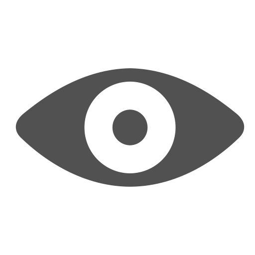 Eye, see, view, visible, watch icon.