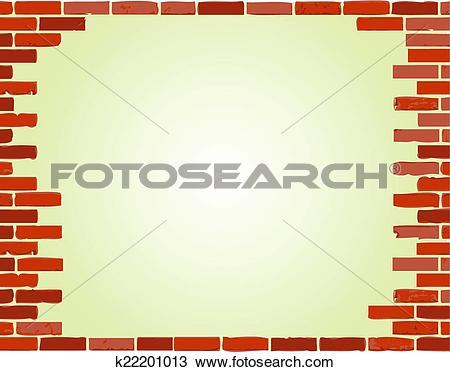 Clipart of brick wall border illustration design k22201013.