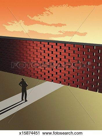 Stock Illustration of Talking to Brick Wall x15452905.