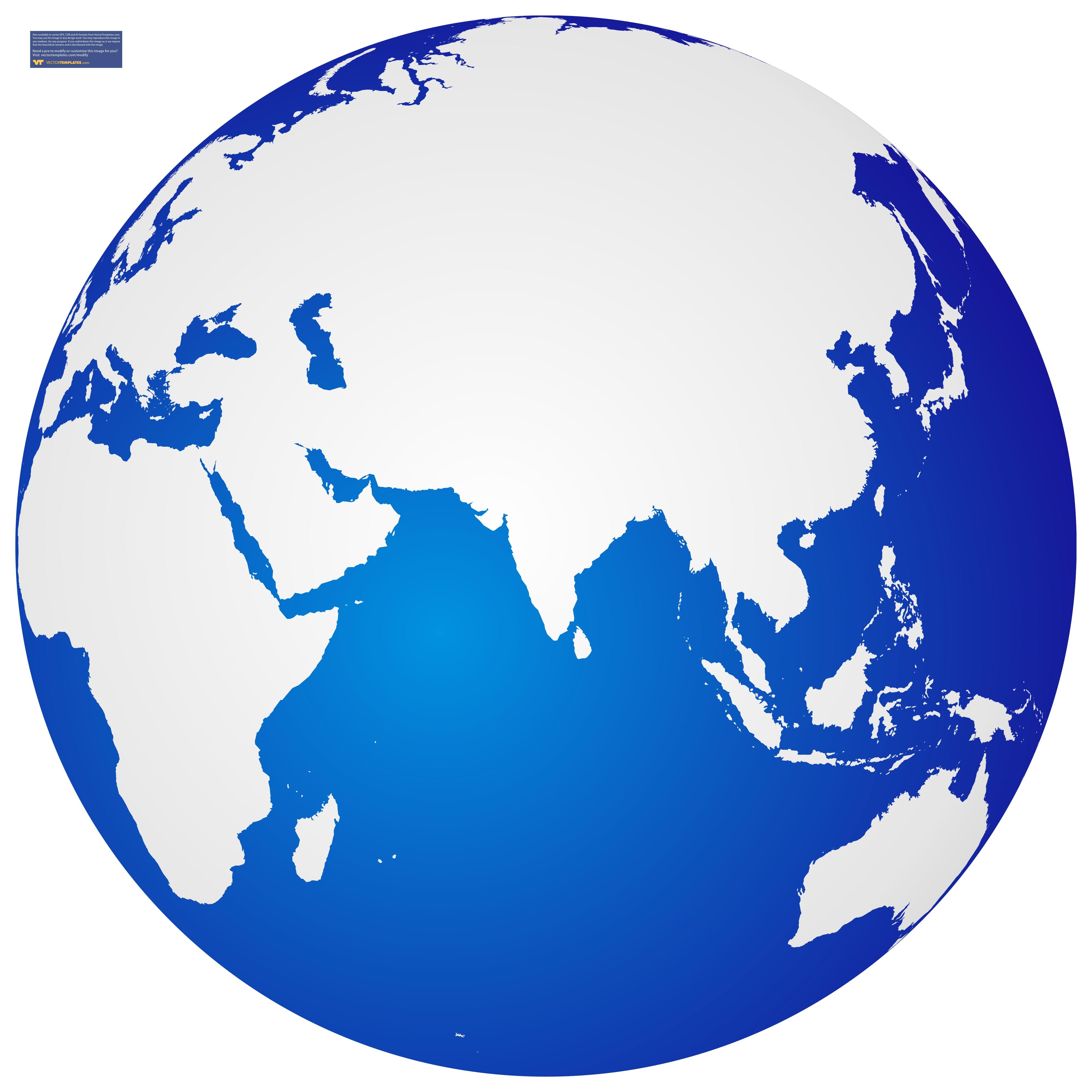 Globe asia clipart.