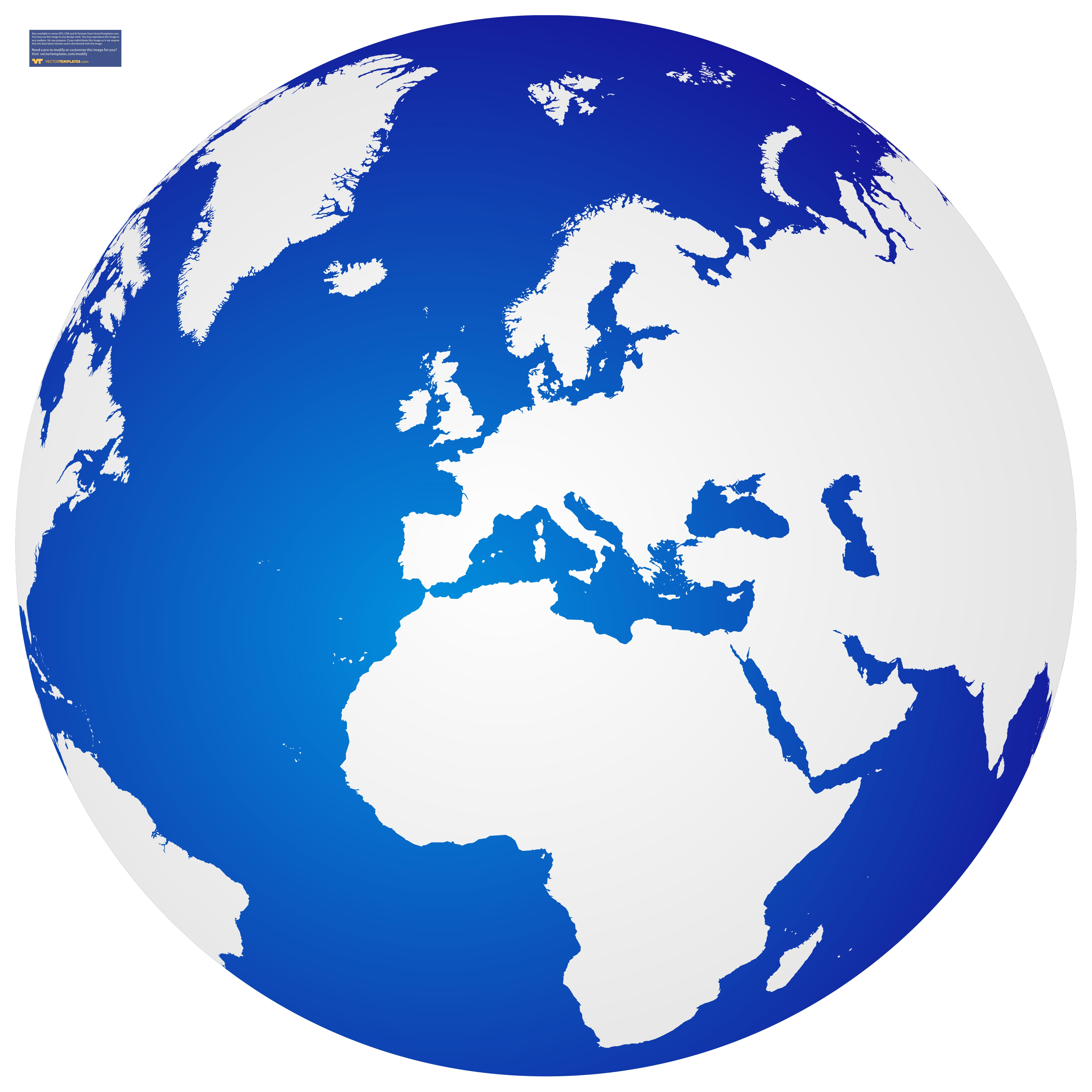 Planet earth clipart europe.