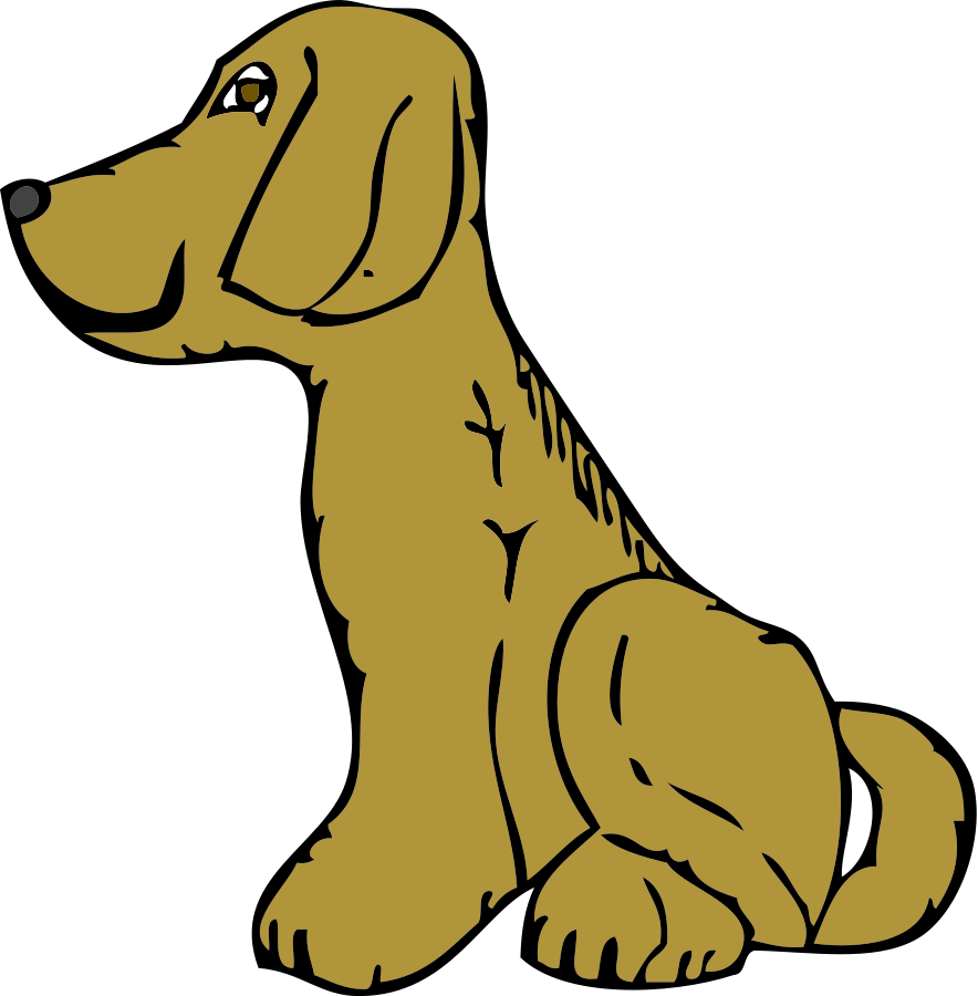 Dog Side View Clipart.