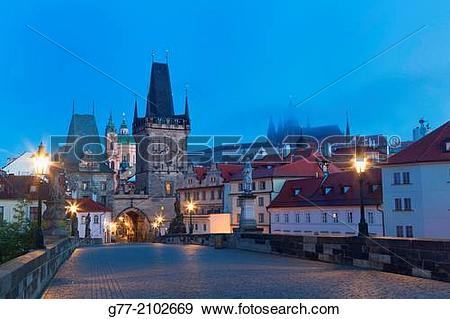 Stock Photograph of Czech Republic. Prague. The Old Town. View.