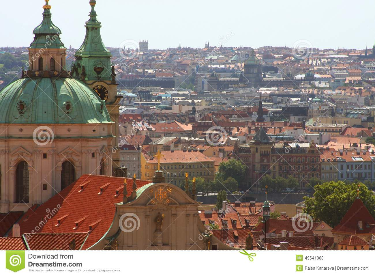 Panorama Of Prague. View Of Charles Bridge Royalty Free Stock.