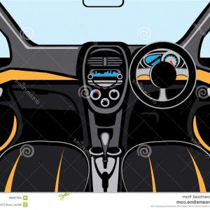 Exclusive Stock Vector Car Interior View From Inside Of The Car.