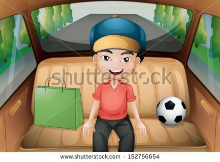 View from inside a car clipart.