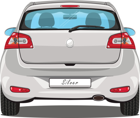Car Back View Clipart.
