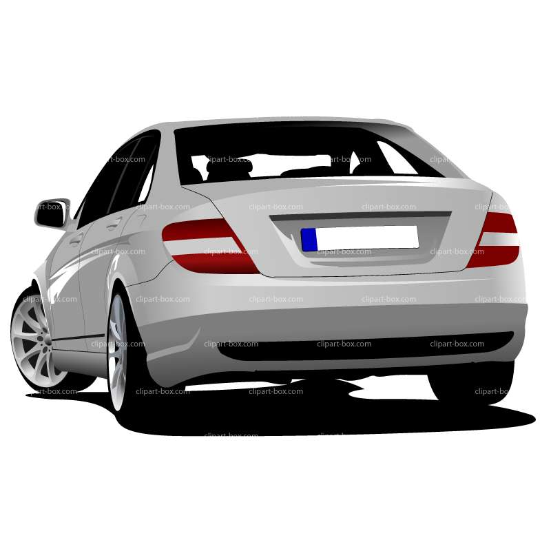 Back View Of Car Clipart.
