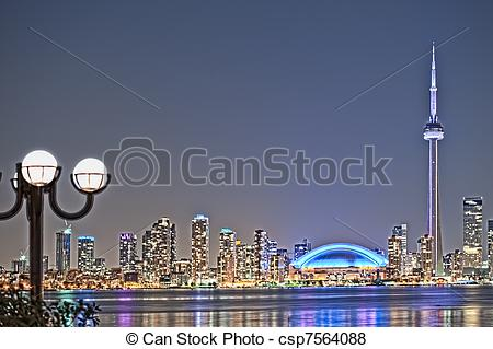 Pictures of The landmark Toronto downtown view from the center.
