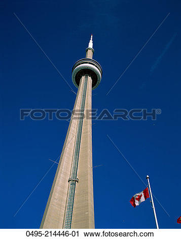 Stock Photography of Canada, Ontario, Toronto, CN Tower & Canadian.