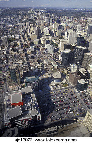 Stock Photo of Toronto, Ontario, Canada, Scenic aerial view of the.