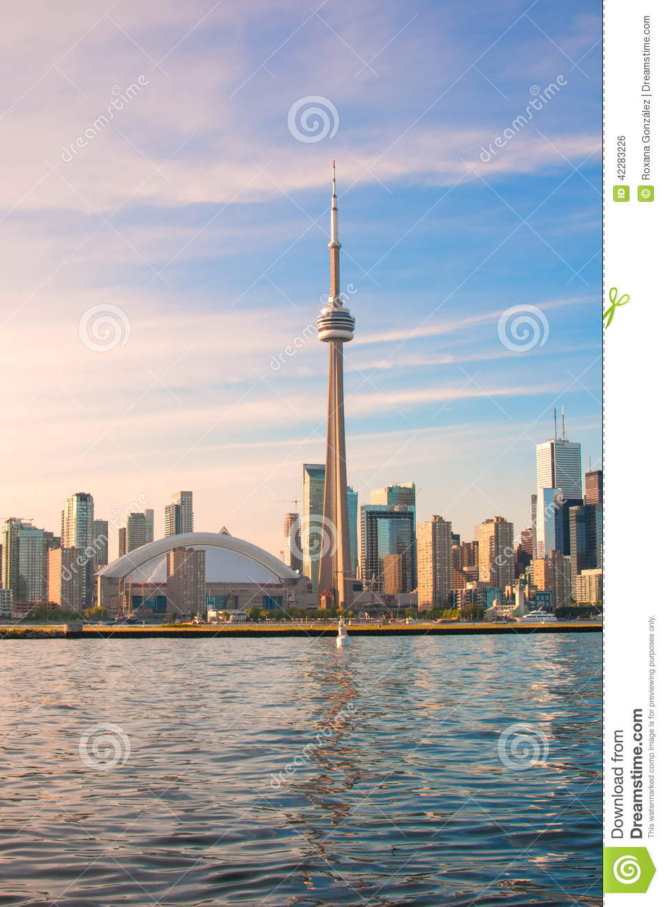 CN Tower And Toronto City View Editorial Photo.
