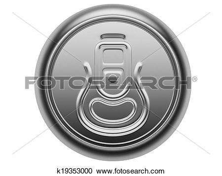 Stock Illustrations of aluminium can view from the top k19353000.