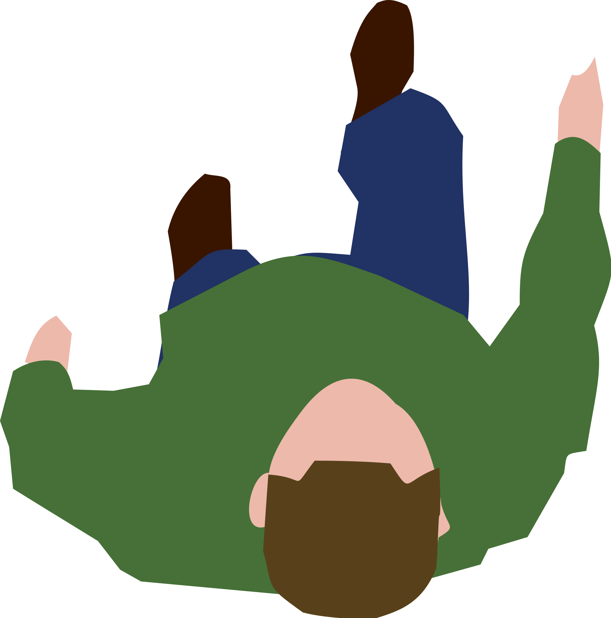 Person clipart top view.