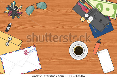 Clipart Stationery View From The Top Stock Photo 386947504.