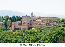 Stock Photographs of The Alhambra Alhambra in Granada, Andalucia.