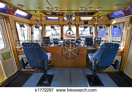 Picture of The wheelhouse of a fire boat k1772297.