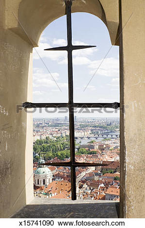 Stock Photography of Window view from Prague Castle x15741090.