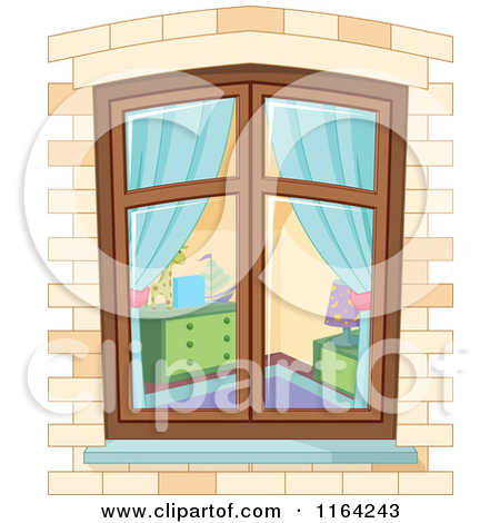 Clipart of a Medieval Castle Window with Ivy.