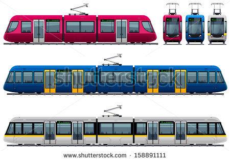 Tram Stock Photos, Royalty.